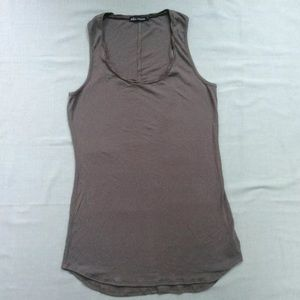 Ella Moss Ribbed Tank Top Olive Green Made in USA